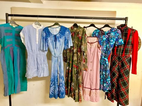 20 Vintage Dresses Retro Job Lot Wholesale